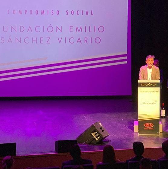 Image for La Fundación Emilio Sánchez Vicario premiada por su labor de compromiso social con Galardón La Alcazaba de Avila